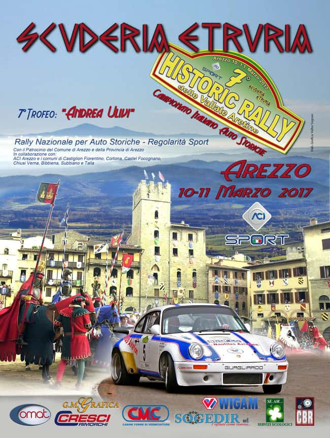 "Italian Championship Rally Cars 2017. Start with the ""Rally delle Vallate Aretine"""